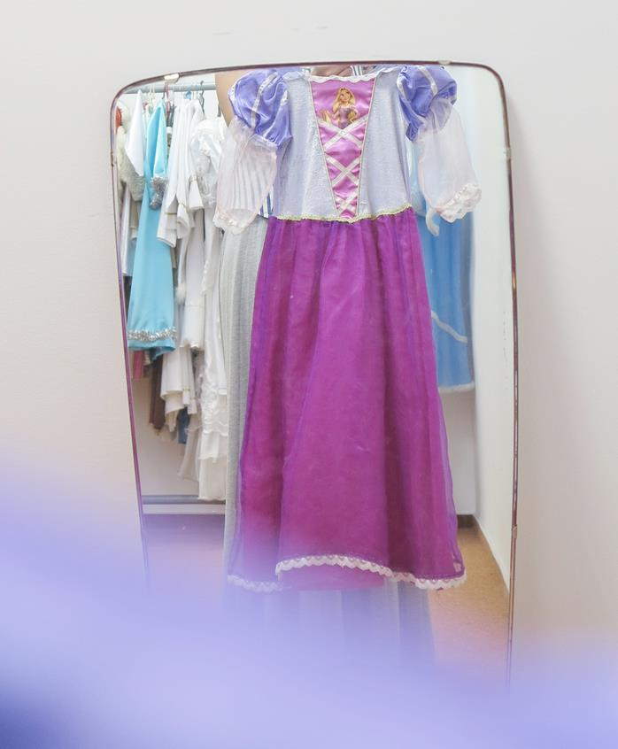 Fioletowy strój dla dziewczynki