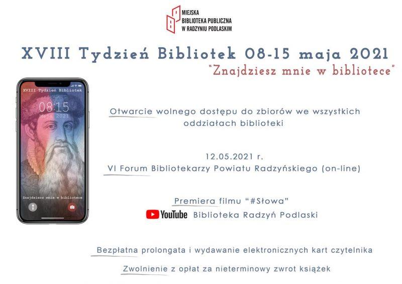 XVIII Tydzień Bibliotek 8 – 15 maja 2021
